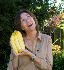 """Joanna Jullien """"'Banana Moments' is the term I use to describe all the curve balls and surprises of parenting in the network. Some are humorous and light hearted others are gut wrenching. There has never been a more rewarding time to be a parent. Photo: Christi Benz"""