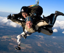 """""""I was surveying bananas in the supermarket, when my oldest called to let me know he had just landed from sky diving. All the surprises of our children are all banana moments to me now."""" Joanna Jullien, mother of two grown sons and creator of Banana Moments. (Photo: skydiving_divemasterking200)"""