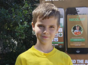 Eight-year-old Nicolas Come founded a company called Nicolas' Garden, to encourage kids to eat healthy.  Nicolas' Garden app launched May 19, 2013 at Soil Born Farms in Rancho Cordova, Ca.