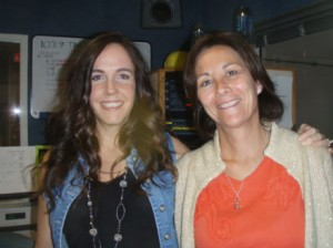 Jodie Stevens, Hostess of The Fish Family Morning Show on 103.9FM, with her cyber mom, Joanna Jullien. They talk cyber safety on Tuesday mornings.