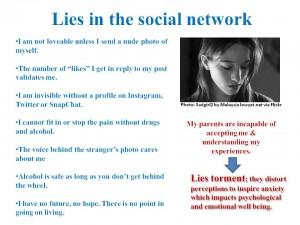 Kids get a lot of fear & fakery in the social network: What do parents offer?