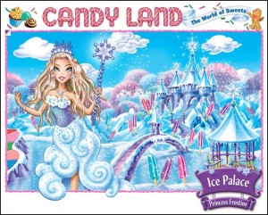 Children's toy figures, like Princess Frostine in the current website image of CandyLand, are more sexual in appearance than the little girls in dresses in year's past.